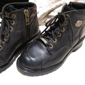 Harley-Davidson • Men's Black Lace & Zip Up Boots